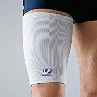 SDA Bi-Lateral Elastic THIGH COMPRESSION SUPPORT Pulled Hamstring SLEEVE by LP - Bruised / Tender / Strained Muscles / Quad Brace Strap / Pain Relief / Sports Injury Recovery Sleeve