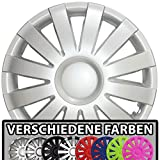 (Farbe & Größe wählbar!) 14 Zoll Radkappen AGAT (Silber) passend für fast alle Fahrzeugtypen (universal)