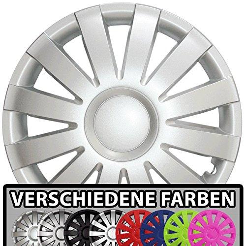 (Farbe & Größe wählbar!) 15 Zoll Radkappen AGAT (Silber) passend für fast alle Fahrzeugtypen (universal)