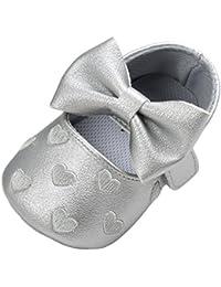 Tefamore Zapatos Zapatillas de deporte de los de Cuero del Bowknot Gráficos De Amor del niño del bebé De suaves antirresbaladizos
