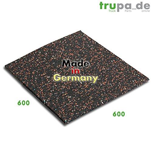 Qualitativ hochwertige Antivibrationsmatte 60 x 60 cm made in Germany | mit hoher Effizienz | schwingungsdämpfende Unterlage für Waschmaschinen und andere elektrische Geräte |