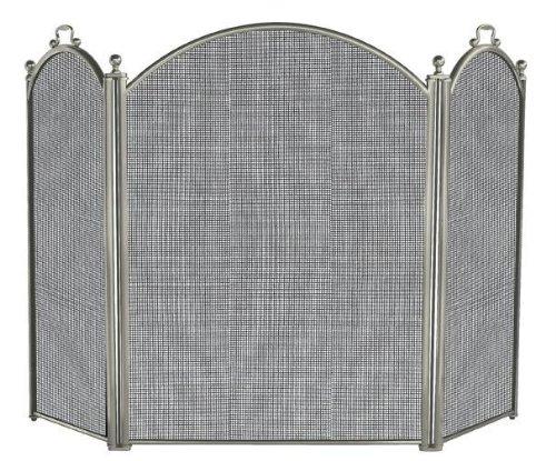UniFlame 3Panel Satin Zinn Bildschirm (Panel-kamin-bildschirm)