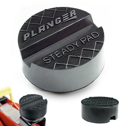 STEADY PAD - Wagenheber Gummiauflage für Rangierwagenheber und Hebebühnen - Universal Gummiauflage Wagenheber - Schützt Ihren PKW und SUV dank praktischer Form und robustem Gummi. Ideal für Auto Tuning