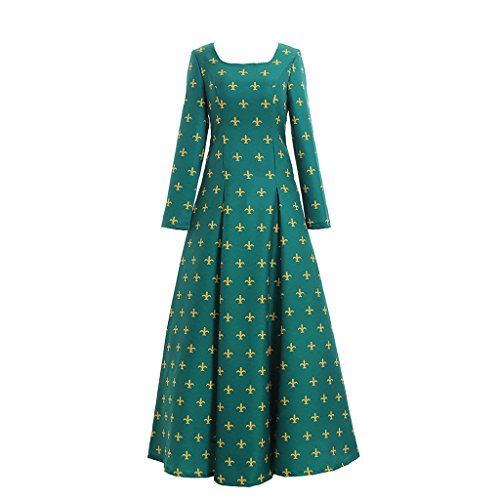 Cosplayitem Damen Mittelalterliches Viktorianischen Kleid Blumen Gedruckt Ballkleid Kleid Grün (Fedex Kostüm Halloween)