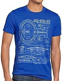 style3 NCC-1701-D Bleu Homme T-Shirt trek trekkie scifi