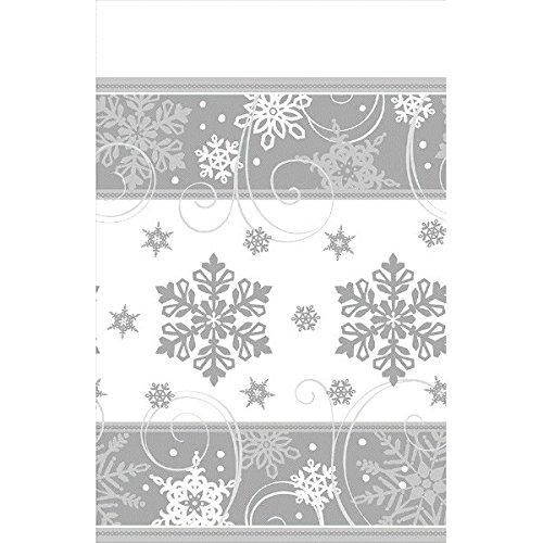 Amscan International Tischdecke 571559paper-printedtc Sparkling Schneeflocke Papier