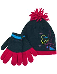 Tinkerbell Disney Gloves Girls Fairies Winter Set Ages 4 To 8 Years