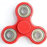 #7: Fidget Spinner Tri-Spinner Shakes Toy Plastic EDC Sensory Fidget Spinner For Autism And Children With ADHD / Adult Funny Anti Stress Toys (Red)