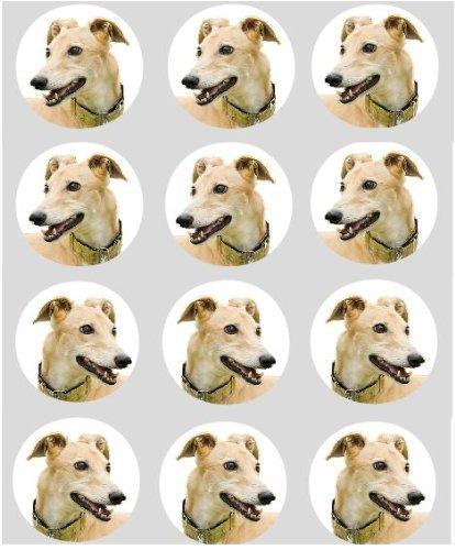 12-hund-greyhound-reispapier-fee-becher-kuchen-40mm-cake-topper-vorschnitt-deko