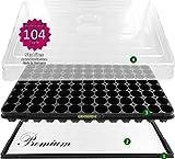 Anzuchthaus PRO104 Zimmer-Gewächshaus Hydroponik XL, automatische Bewässerung für die Anzucht - Profi Treibhaus mit Wanne + Kapillarsystem + QP Topfplatte + Haube