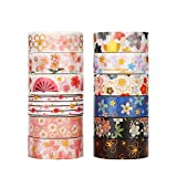 Molshine, nastro adesivo Washi giapponese, nastro adesivo di carta per fai da te, artigianato decorativo, confezioni regalo, scrapbook Sakura series