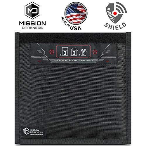 Mission Darkness Bolsa de Faraday Ventana para teléfonos celulares - Protección de 5.ª generación para Fuerzas policiales y Militares