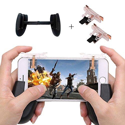 Mobile Game Controller, Leegoal 2018 aktualisiert L1R1 Scharfschütze Ziel-Gaming-Trigger mit sensiblen schießen für Fortnite/PUBG/Messer aus/Regeln des Überlebens passt für Android iPhone (Team Mobile Iphone 6)
