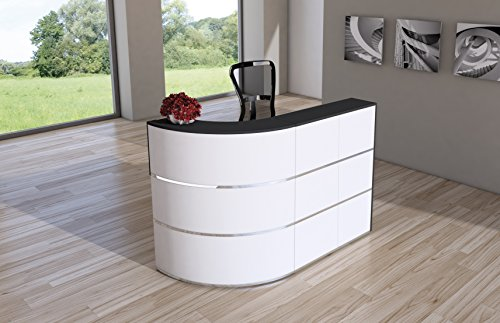 empfangstheke weiss Design Empfangstheke Rezeptionstheke Cento 1,8m Weiß Anthrazit
