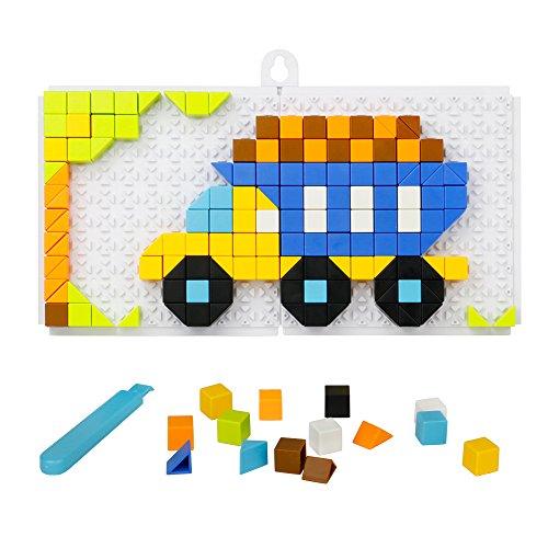 Puzzle Mosaico, Mosaicos Infantiles, Juego Mosaico Pinchos Infantiles Desmontar 4 5 6 7 8 Años Puzzles (198 Piezas)