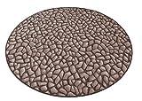havatex Kinderteppich Hot Stone rund - Farbe: Braun | schadstoffgeprüft pflegeleicht |schmutzresistent strapazierfähig |Küche Kinderzimmer Spielzimmer, Farbe:Braun, Größe:200 cm rund