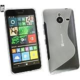 Emartbuy® Microsoft Lumia 640 XL 3G 4G LTE / 640 XL 3G 4G LTE Dual Sim Ultrafina a Presión TPU Gel Funda Carcasa Case Cover Claro