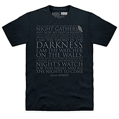 Official Game Of Thrones Night's Watch Oath T-shirt, Pour homme