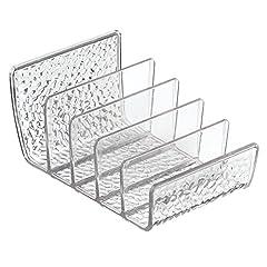 Idea Regalo - InterDesign Rain Porta trucchi, Organizzatore cosmetici come palette ombretti in plastica, trasparente