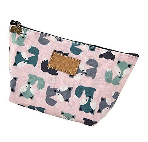 Organiseur sac de beauté petite pochette, sac cosmétiques, sac de maquillage de voyage, style Fox