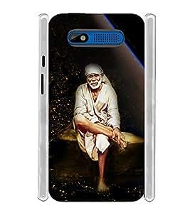 Lord Shirdi Sai Baba Bagwan Ji Soft Silicon Rubberized Back Case Cover for Intex Aqua R4