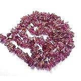 "Red Garnet Chip Natural Gemstone Plain Beads Chip Shape Beads 13"" Long"