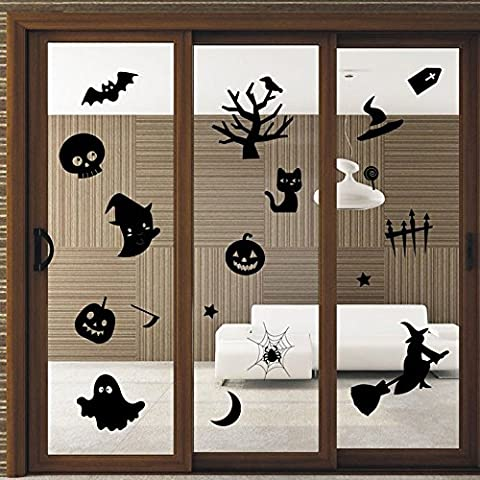 OverDose Happy Halloween Stickers Home Household Mural Decor Decal PVC Wall Sticker 76.6 x 66.6cm