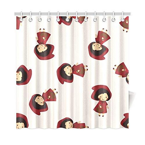 JOCHUAN Home Decor Bad Vorhang Märchen Prinzessin Cartoon Polyester Stoff Wasserdicht Duschvorhang Für Badezimmer, 72X72 Zoll Duschvorhänge Haken Enthalten