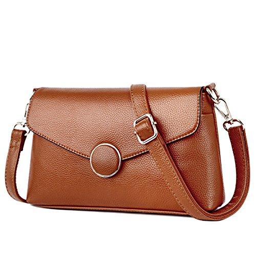 Damenmode Umhängetasche Handtaschen-Schulter-Kurier-Taschen-Tasche Multicolor Yellow