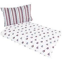 JoJo Maman Bébé - Funda nórdica para cama infantil, diseño estampado marinero