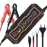 KYG Chargeur de Batterie pour Voiture 6/12V 5A, Mainteneur de Batterie Intelligent avec Plusieurs Protections, Battery Charger pour Motos Voiture...