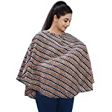 Mum's Caress Premium Cotton Nursing Covers/Feeding Cover/Maternity Top/Baby Cover - Blue And Orange