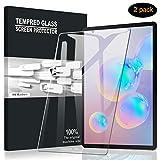 A-VIDET Panzerglas für Samsung Galaxy Tab S6 2019,9H Härte Schutzfolie Anti-Kratzer/Bläschen/Fingerabdruck/Staub Displayfolie Panzerglasfolie für Samsung Galaxy Tab S6 2019(2 Stück)