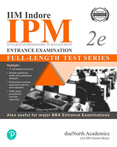 IIM Indore IPM Entrance Examination-Fulllength Test series | other BBA Entrance Exams | 11 full length mock test & OMR sheets for real-time experience