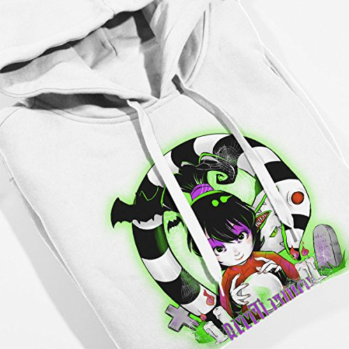 Beetlejuice Snake Women's Hooded Sweatshirt white