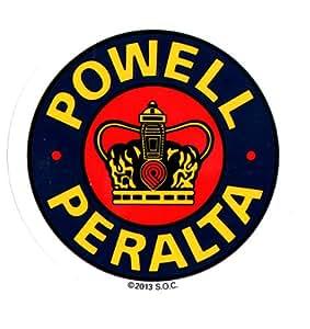 Powell Peralta Skateboard Sticker - Supreme Bones Brigade - 9 x 9cm New Official by Powell