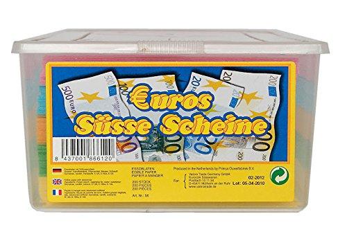 Euros Süße Scheine Bunte Essoblaten 200 Stück, 1er Pack (1 x 625 g) (Bunte Euro-schein)