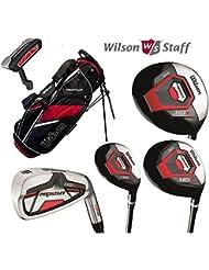 Wilson Prostaff tous les manches en graphite HDX 12pièces Set de golf complet et Ionix Sac de support pour 2016pour homme droitier