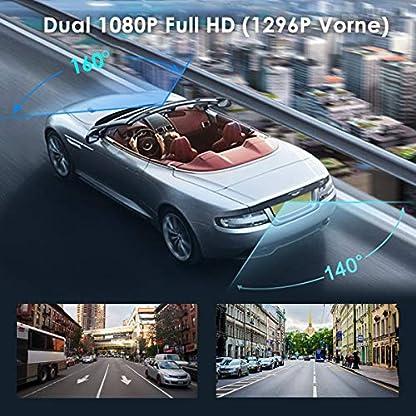 VANTRUE-M1-Dual-1080P-Rckspiegel-Dashcam-988-Zoll-IPS-Touchscreen-Auto-Kamera-mit-Parkhilfe-1296P-vorne-Prima-Nachtsicht-GPS-Dash-Cam-LDWS-Parkberwachung-Wasserdicht-Car-Camera-G-Sensor