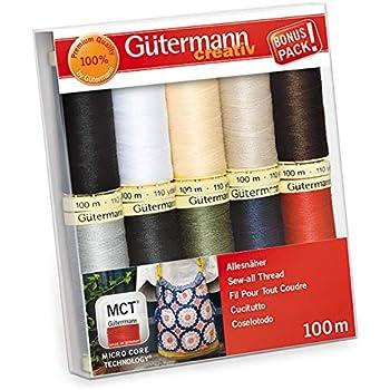 7 bobines couleurs assort Gutermann quilting thread set