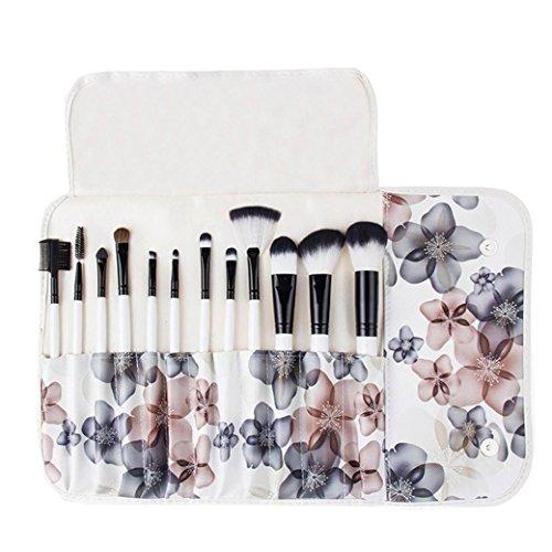 kingko® 12 Pcs / Set pinceaux de maquillage professionnels Set / Fondation fard à paupières eyeliner lèvres cosmétiques pinceau, brosse cosmétiques (noir)