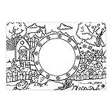 Mal Mich Bunt Papier Platzdeckchen zum Ausmalen I 6 Stück Platzsets Motiv Bauernhof I Tischsets für Kinder I Ausmalen