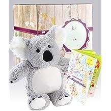 Warmies Geschenkset - Kuscheltier Beddy Bears Koala mit Lavendelduft Wärmekissen + Edle Geschenkverpackung + Büchlein mit spannenden Kindergeschichten