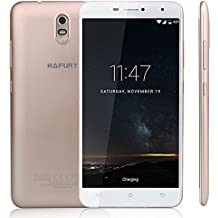 Cubot Hafury Umax 3G 6,0 Pulgadas 2,5D Android 7.0 MTK6580 Quad Core 2GB RAM 16GB ROM Cámara 13MP & 5MP Batería 4500mAh Dual SIM 10 Puntos Táctil, Dorado