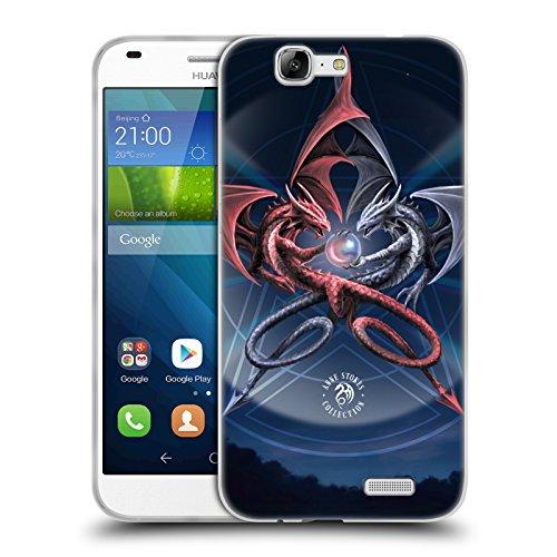 Official Anne Stokes Pentagram Dragons 3 Soft Gel Case for Huawei Ascend G7