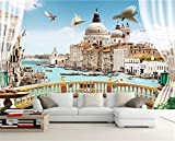 Yosot Custom 3D Fototapete Wohnzimmer Wandbild Fenster Balkon Rom Landschaft Malerei Tv Hintergrund Vliestapeten Für 3D-Wand-450Cmx300Cm