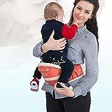 WDXIN Babytrage Bauchtrage Hüft Vier Jahreszeiten Multifunktional Atmungsaktiv Taille Hocker Babytrage Übernehmen Ergonomie Design,A