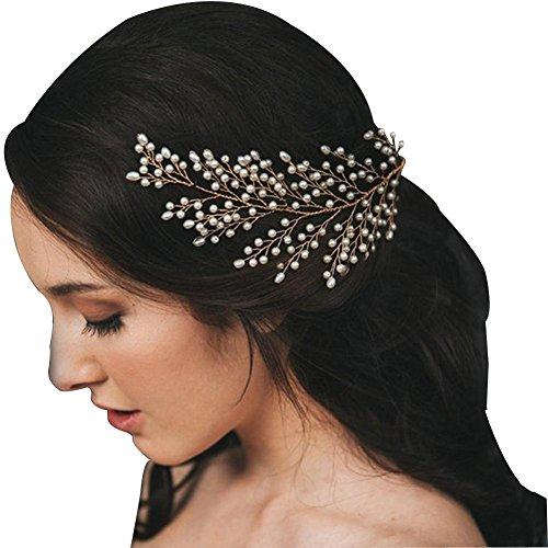 DUUMY Braut Hochzeit Outdoor Schuss Probe Hand Perle Blatt Modellierung Haar Styling Kopfschmuck , (Schüsse Halloween)