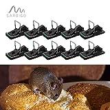 Gardigo Mausefalle 10er Set, Schlagmausefalle, Schlagfalle, Mäuse Falle (10 Stück)
