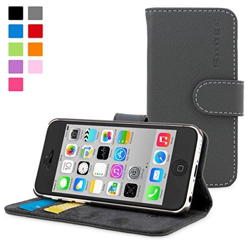 TheSnugg B00U7DFCMQ Schutzhülle für Handys (Folio, Apple, iPhone 5c, 10,2 cm (4 Zoll), Grau